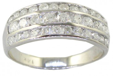 1.15ct SI1-2 Channel Set Engagement Wedding Ring Band  Natural Diamond 14Kt Gold