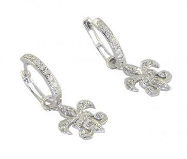 0.70Ct SI1-2 Round Cut Diamond 14K Solid Gold Dangle Chandelier Earrings