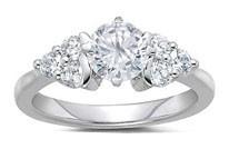 1.01Ct  SI1-2 Round Diamond Jewelry 18Kt Gold Matching Ring Set Enagagement Band