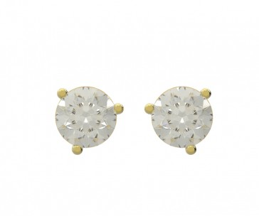0.90Ct SI1-2 Real Diamond Martini Set Solitaire Stud Earring Appraisal
