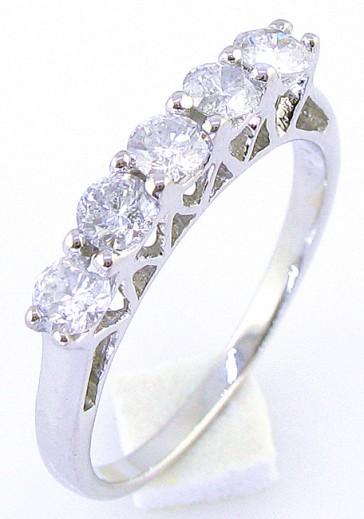 0.70ct SI1-2 Band Prong Set  Round Diamond Jewelry 18Kt Gold