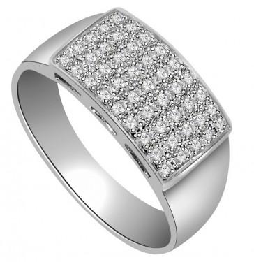 0.60Ct SI1-2 Genuine Diamond Jewelry White Gold Mens Wedding Ring Band