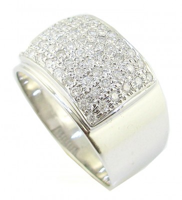 1.01Ct SI1-2 Round Cut Diamond 14K White Gold Mens Engagement Ring Band Appraisal