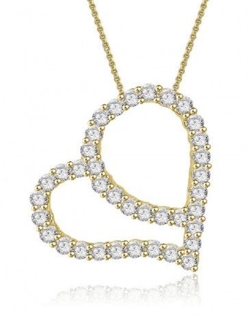 0.75ct SI1-2 Heart Pendant Necklace Antique  Round Cut Diamond Jewelry 14Kt White Gold