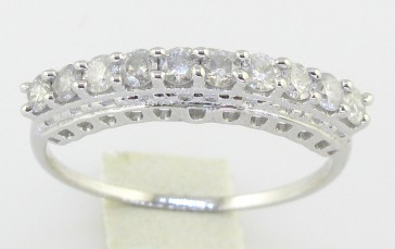 0.50Ct SI1-2 Round Diamond Jewelry 14Kt Solid Gold Engagement Ring Band