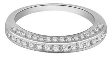 0.65ct SI1-2 Engagement Anniversary Ring Band White Gold Natural Diamond Jewelry