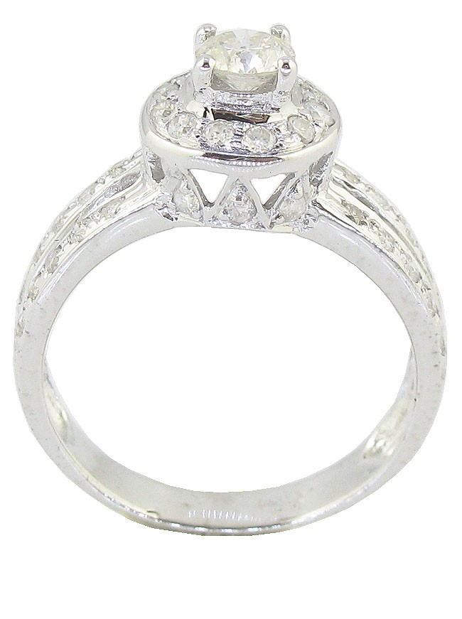 ct SI1 2 Split Shank Solitaire Engagement Ring Band Round Diamond