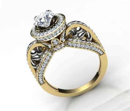 200ct SI12 Natural Diamond Designer Solitaire Ring Wedding Band