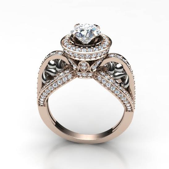 2 00ct si1 2 designer solitaire ring