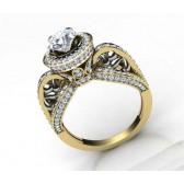2.00ct SI1-2 Natural Diamond Designer Solitaire Ring Wedding Band