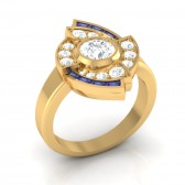 SI1-2 1.10Ct Solitaire Anniversary Ring Band  Not Enhanced Diamond 18Kt Solid Gold