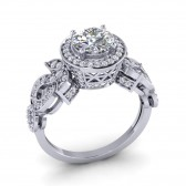 SI1-2 1.80 Ct Real Diamond 14Kt Solid Gold Excellent Solitaire Ring Wedding Band