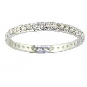 0.55Ct VS Excellent Cut Round Diamond 18kt Eternity Ring Band