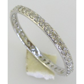0.55Ct SI1-2 Diamond Excellent Eternity Ring Band Prong Set 18Kt Gold