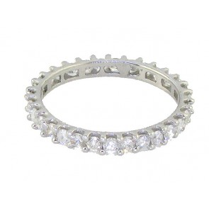 1.01ct SI1-2 Eternity Ring Wedding Band Genuine Diamond Jewelry 18Kt Solid Gold