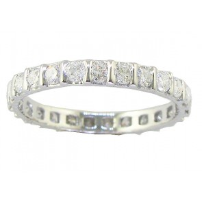 1.20ct VS Diamond White Gold 18k Eternity Wedding Ring Band