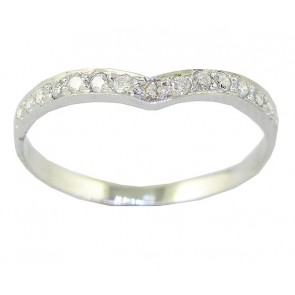 0.25Ct VS Diamond 18K Enaggement Wedding Ring Band