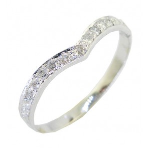 0.25 Ct SI1-2 Diamond 18Kt White Gold Enaggement Wedding Ring Band