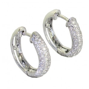 0.50Ct VS Not Enhanced Diamond 18K Hoops Huggie Earrings Appraisal