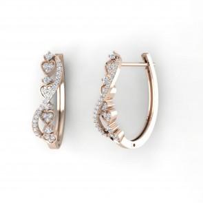 0.70Ct  SI1-2 Not Enhanced Diamond Appraisal Hoops Huggie Earrings