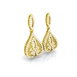 1.10ct SI1-2 Excellent Fashion Dangle Earring  Real Diamond Jewelry 14K Solid Gold