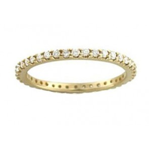 0.55 ct SI1-2 Eternity Wedding Stackable Ring Band Real Diamond Jewelry 14Kt Gold