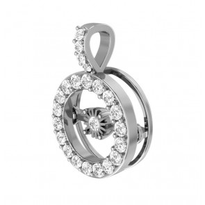 0.45ct VS New Circle Pendant Necklace