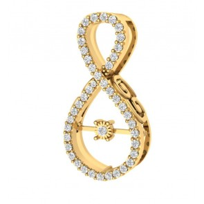 0.45Ct  VS Diamomd 18Kt Gold Fashion Cluster Pendant Necklace