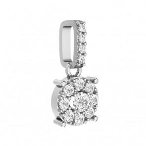0.30ct VS Diamond 18k solid Gold Fashion Cluster Pendant Necklace