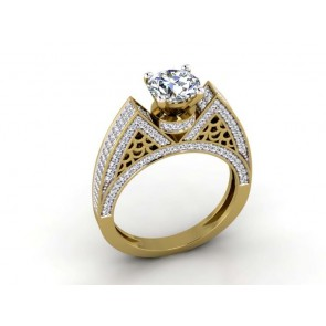 1.75Ct SI1-2 Natural Diamond 18Kt Solid Gold Solitaire Engagement Ring Band