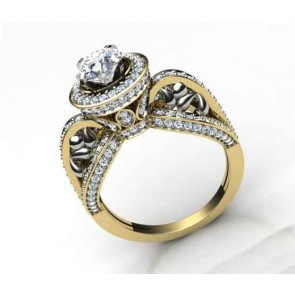 2.00ct SI1-2 Natural Diamond Designer Solitaire Ring Wedding Band