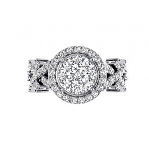 1.25ct SI1-2 Solitaire Engagement Ring Band Round Diamond Jewelry 18Kt Solid Gold