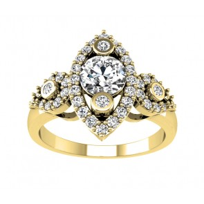 1.20ct SI1-2  Solitaire Wedding Ring Band Excellent  Round Diamond 18Kt Solid Gold