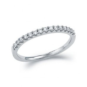 0.40Ct Si1-2 Real Diamond 18Kt Gold Half Eternity Engagement Stackable Ring Band