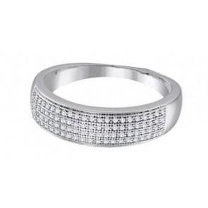 0.90Ct SI1-2 Natural Diamond Jewelry 14K White Gold Anniversary Wedding Ring Band