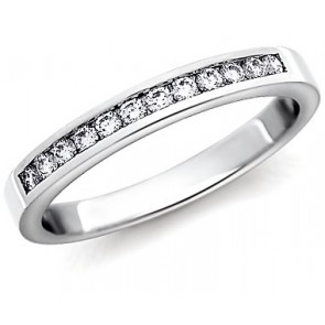 0.45Ct SI1-2 Natural Diamond 14Kt Gold Anniversary Stackable Ring Wedding Band
