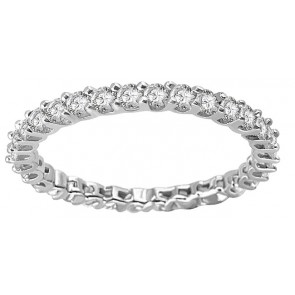 1.10ct SI1-2 Eternity Engagement Stackable Ring Band Real Diamond 18K Solid Gold