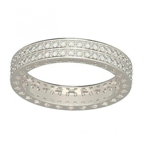 1.25Ct SI1-2 New Prong Set Diamond White Gold Eternity Wedding Anniversary Ring Band