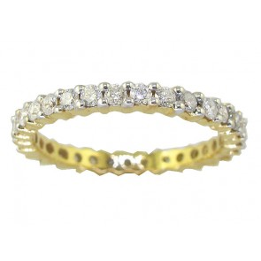 1.10ct SI1-2 Eternity Engagement Stackable Ring  Real Diamond 14Kt Gold