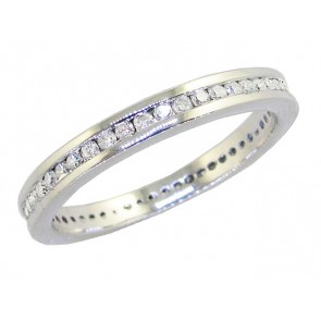 0.50ct SI1-2 Eternity Wedding Stackable Ring Band Natural Diamond 14Kt Solid Gold
