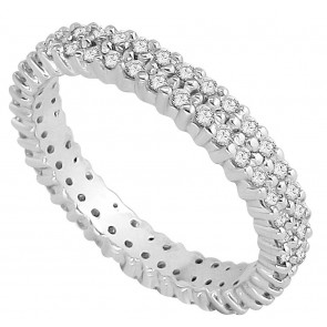 1.01Ct  SI1-2 Diamond Jewelry White Gold Excellent Eternity Anniversary Ring Band