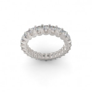 2.10Ct VS Eternity Wedding 18k Ring Band Appraisal