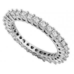 1.01ct SI1-2 Eternity Engagement Ring Band SI1/G RoundDiamond Jewelry 18K White Gold