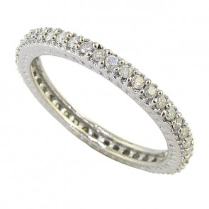 0.55Ct SI1-2 Natural Diamond 14Kt Solid Gold Eternity Wedding Stackable Ring Band