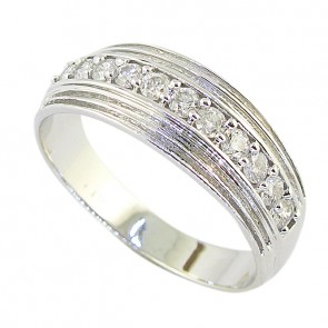 0.60Ct SI1-2 Diamond Jewelry Men's Ring Engagement Band