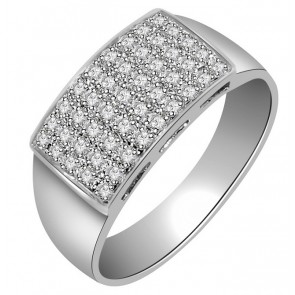 0.60Ct SI1-2 Genuine Diamond Jewelry White Gold Mens Wedding Ring Band