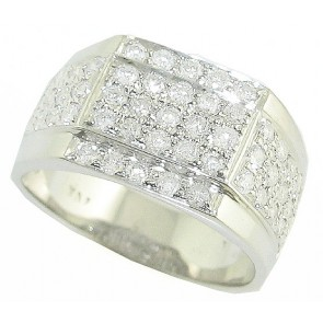 1.55Ct SI1-2 Round Diamond Jewelry 18Kt Solid Gold Mens Engagement Ring Band