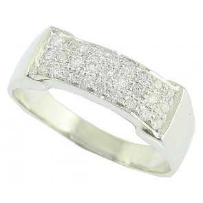 0.40ct VS Diamond Pave Set 18K Gold Men's Engagement Wedding Ring Band
