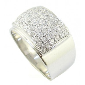 1.01Ct VS Round  Diamond  Mens 18K Engagement Ring Band Appraisal