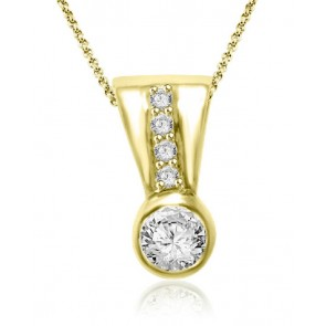 18K Gold 0.40ct VS Diamond Fashion Pendant Necklace